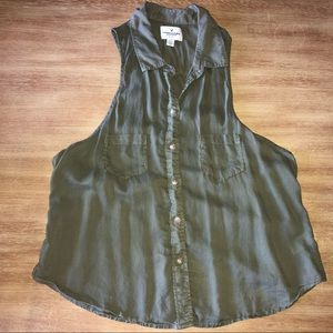 American Eagle Outfitters button down tank